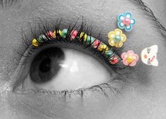 Outfit Your Peepers with False Eyelash Jewelry Varieties #halloween #eyelashes trendhunter.com