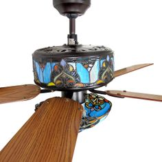 Ceiling Fans With Stained Glass: ceiling fans with stained glass | Details about Stained Glass Ceiling Fan  and Light Shades of,Lighting