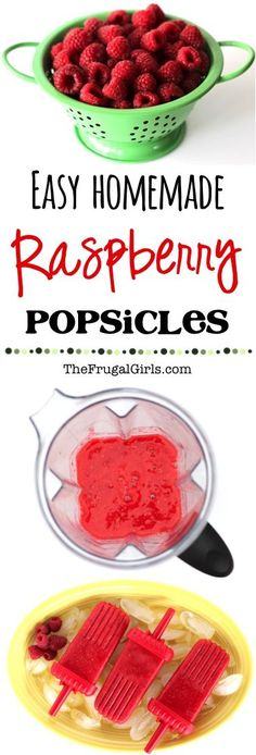 Homemade Raspberry Popsicles Recipe! ~ from TheFrugalGirls.com ~ the perfect refreshing popsicle on a hot summer day! These Easy Pops are made with fresh raspberries and SO delicious! #healthy #recipes #thefrugalgirls