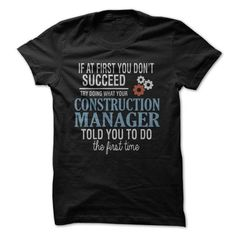 Construction Manager Tee - #boyfriend gift #thoughtful gift. MORE INFO => https://www.sunfrog.com/LifeStyle/Construction-Manager-Tee.html?68278