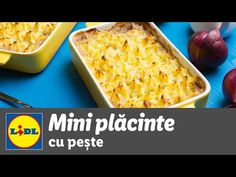 Mini placinte cu peste • reteta Bucataria Lidl - YouTube Lidl, How To Cook Fish, Macaroni And Cheese, Tray, Cooking, Ethnic Recipes, Youtube, Food, Kitchen