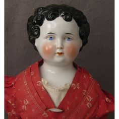 """20.5"""" Antique German Dolley Madison China Head Doll from virtu-doll on Ruby Lane"""