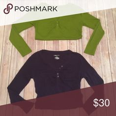 Bundle of 2 Maternity Long Sleeve Tees Only worn a handful of times each and in excellent condition. These are the same style, different color. They have the elastic scrunchy sides for the ability to grow with your pregnancy. Not going to lie, you can wear these if you aren't pregnant as well. Perfect for Fall!! Liz Lange Tops Tees - Long Sleeve