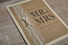 Einladungskarten - Kirchenheft Hochzeit kirchliche Trauung Vintage - ein Designerstück von Velvet-Design bei DaWanda