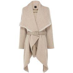 Oasis Mini texture drape coat ($160) found on Polyvore