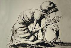 Umělec+pojal+tematicky+výzvu+Inktober+a+každý+den+kreslí+psychické+poruchy