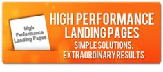 Download Free E-book: High Performance Landing Pages - Simple Solutions, Extraordinary Results.