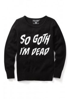 Killstar So Goth I'm Dead Knit Sweater, £44.99