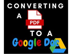 PDF to Google Doc Conversion Guide You can now convert aPDFto aGoogle Docright in Google Drive in order to make changes to the document The file conversion isgoodfor simplesmall PDFsbutbadforlarge PDFswith images tables and other complex formatting The following guide shows you how to upload PDFs into Google Drive and convert them using step-by-step instructions and screenshots Google Doc Conversion Guide G Suite for Education GAFE Google Drive