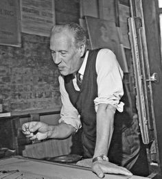 Marino Marini im Atelier Mourlot, Paris ca. 1969 © Helene Adant / Fondazione Marino Marini, Pistoia