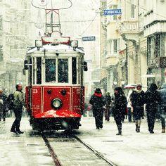 tram photography Red tram Winter photography Snow by gonulk  #HomeDecor #WallDecor #WallArt #photography #Art #Etsy #Print #ArtPrint #HomeDecorating #photo #artprint #roominteriordecoration #photoprint #housewarming
