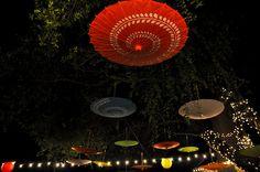 Upside down parasols