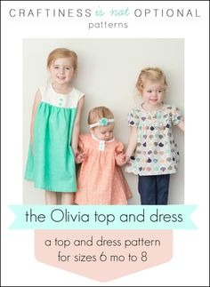 Olivia Top and Dress by Craftiness is Not Optional