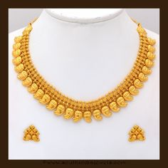 classic gold mango necklace set from VBJ