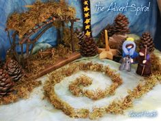 Advent Spiral - ooh. Maybe I should do a spiral on the nature table in plant week this year...I like it...