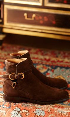 Shop refined shoes from Ralph Lauren for the holiday season.