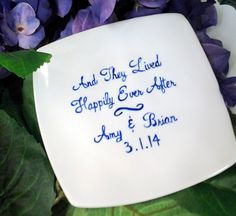 Custom Painted Ring Bearer Dish Plate Personalized Wedding Gift  Keepsake on Etsy, $14.99