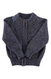 Peek 'Daly' Front Zip Sweater (Baby Boys)