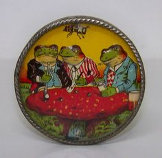 Hand held Dexerity Puzzle tin lithograph