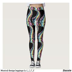Musical design leggings