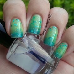 """NEW--""""Mermaid Tears"""" -Color Changing Thermal Nail Polish:  Custom-Blended Indie Glitter Nail Polish / Lacquer"""