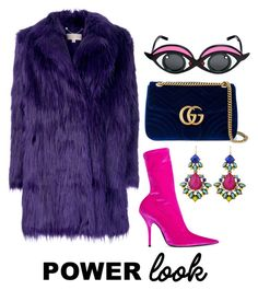 """Power Look"" by zoe-keredy ❤ liked on Polyvore featuring MICHAEL Michael Kors, Balenciaga, Linda Farrow and Gucci"