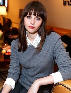 Felicity Jones hair.  I'd like my hair just barely skimming my shoulders.