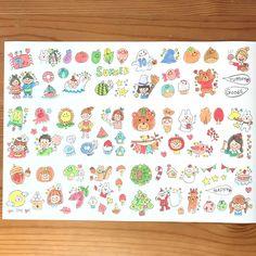 Sセット♡手描き 季節シール