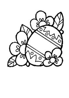 Easter - printable colouring sheet