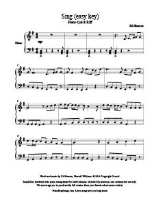 Sing - Ed Sheeran - free piano sheet music