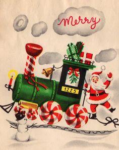 Vintage Santa and Card