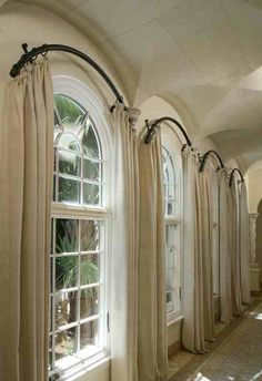 Where do I find arched curtain rods?!