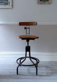 Vintage Evertaut Industrial Stool c. 1940s