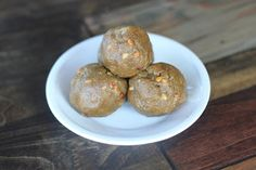 High Protein Peanut Butter Balls  2 cups NATURAL crunchy peanut or almond butter  2 scoops Jay Robb chocolate whey or egg white protein powder  2 ripe bananas, mashed  2 TBS freshly ground flax seeds  1 tsp psyllium husks (optional thickener and fiber for the little tikes!)