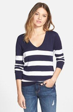 a59eab02d9dae love this -- BP. Stripe V-Neck Pullover (Juniors) (Online