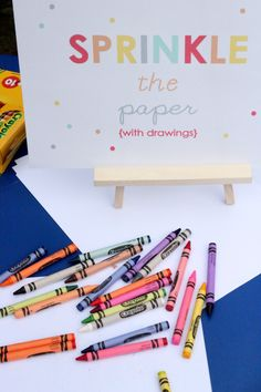 sprinkle party coloring station