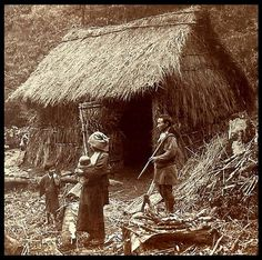 A FAMILY in THE MOUNTAINS of OLD JAPAN, Ca. 1900. By Okinawa Soba