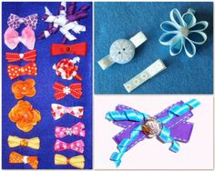 I love making barrettes and hair clips for my girls. They always turn out cute and that makes me feel really crafty. Diy Hair Bows, Bow Hair Clips, Diy Hairstyles, Celtic, Headbands, Crafting, Kids Rugs, Blog, Head Bands
