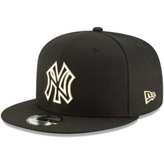 Men s New York Yankees New Era Black Metal Framed 9FIFTY Snapback  Adjustable Hat bb0d910c620