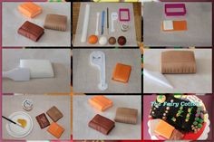 How to make fondant books A great tutorial _for your graduation's cake and Cupcake toppers_ on how to model booklets with fondant. By: The Fairy Cotton http://www.elhadadealgodon.blogspot.com.es/2012/06/tutorial-libros.html