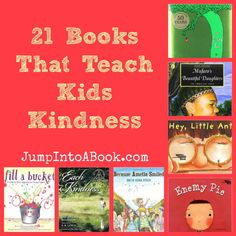 Want to teach your kids how to be kind? A Kindness Booklist for Kids