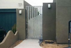 Stainless Steel Gate contemporary landscape