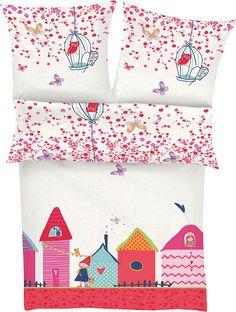 Kinderbettwäsche, s.Oliver RED LABEL Junior, »Village«, mit kleinem Dorf ab 29,99€. Bettwäsche in kindgerechtem Design, Aus 100% Baumwolle hergestellt bei OTTO