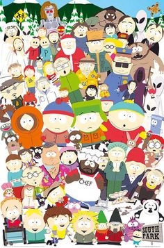 Womens Tank South Park All Characters Kenny Stan – Shop merchandise on IdolStore South Park Poster, Parking App, Trey Parker, Favorite Tv Shows, My Favorite Things, Animated Cartoons, Watch Cartoons, Tank Man, Childhood