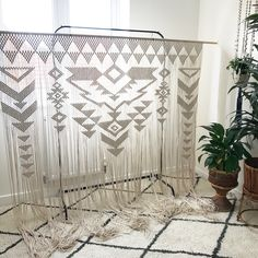 The finished macrame wedding backdrop by Macrame Adventure - custom orders are welcome through my Etsy Shop - Macrame Adventure