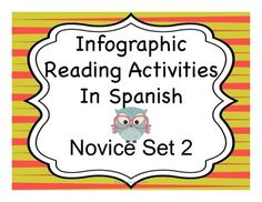 Reading activities to accompany infographics in Spanish. Great way to get Spanish I and II students reading. Intermediate level also available. Spanish Activities, Teaching Spanish, Reading Activities, Reading Skills, Spanish Classroom, Elementary Spanish, Spanish Teacher, Classroom Activities, Free Spanish Lessons