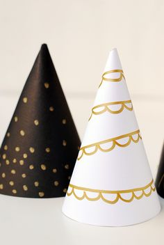 Craftykins // DIY Gilded Party Hats