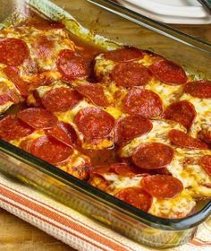 Pepperoni Pizza Chicken Bake | 17 Low Carb Casseroles