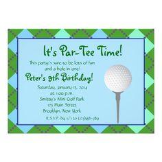 16 best mini golf birthday invitations images on pinterest par tee time girl personalized invitation filmwisefo