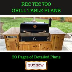 Rec Tec 700 Grill Cart Plans | Seared and Smoked Large Green Egg, Big Green Egg Table, Green Eggs, Grill Cart, Grill Table, Big Green Egg Outdoor Kitchen, Rec Tec, Vertical Siding, Kamado Grill